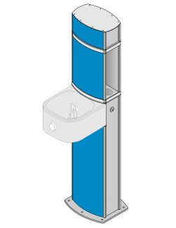 aquafilUS Pulse water bottle refill station with drinking fountain