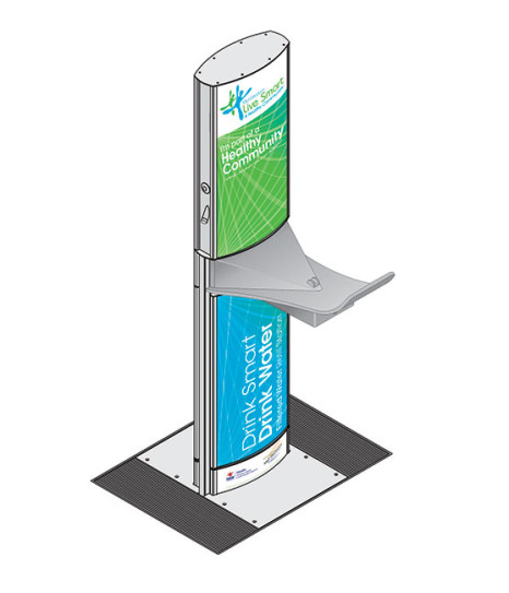 aquafilUS Alpine Bottle Refill Station and Drinking Fountain