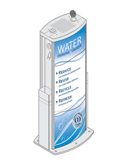 aquafilUS amigos water bubbler and refill station